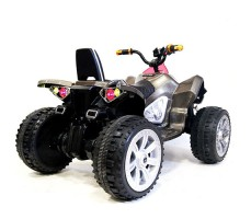 фото детского электроквадроцикла RiverToys А001МР Carbon сзади