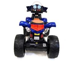 Заднее фото детского электроквадроцикла RiverToys E005KX BLUE