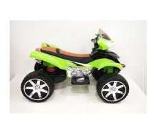 Боковое фото детского электроквадроцикла RiverToys E005KX GREEN