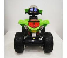 Заднее фото детского электроквадроцикла RiverToys E005KX GREEN