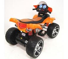 Заднее фото детского электроквадроцикла RiverToys E005KX ORANGE