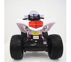 Заднее фото детского электроквадроцикла RiverToys E005KX WHITE