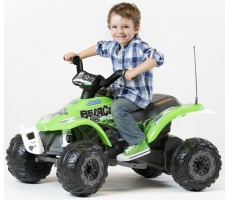 Фото квадроцикла Peg-Perego Corral Bearcat Green с пассажиром