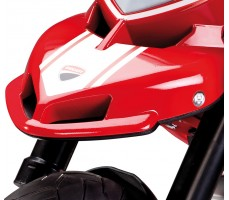 Фото вилки электромотоцикла Peg-Perego Ducati Hypermotard Red