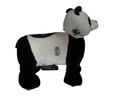 Фото зоомобиля Joy Automatic Panda с монетоприемником вид сбоку