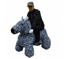 Фото зоомобиля Joy Automatic Зебра с монетоприемником с пассажиром