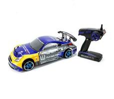 фото RC машины для дрифта HSP Flying Fish 1 4WD 1/10 сине-жёлтого цвета