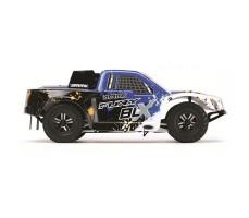 фото RC шорт-корс трака Arrma Fury BLX 2WD Blue сбоку