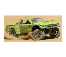 фото RC шорт-корс трака AXIAL Trophy Truck Green в движении