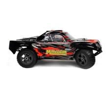 фото RC шорт-корс трака Iron Track Mayhem Mega 4WD красного цвета сбоку