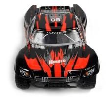 фото RC шорт-корс трака Iron Track Mayhem Mega 4WD красного цвета спереди