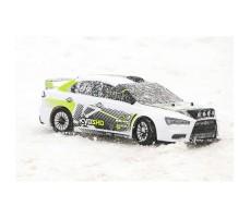 фото RC машины Kyosho Fazer Lancer KX1 VE-X 1/10 4WD в движении по снегу