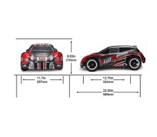 фото габаритов RC машины Remo Hobby Rally Master 4WD RTR