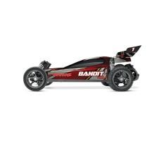 фото RC машины Traxxas Bandit VXL 1/10 2WD TSM Plus красного цвета сбоку