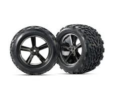фото колес радиоуправляемой машины Traxxas E-Maxx 1/10 4WD Brushless
