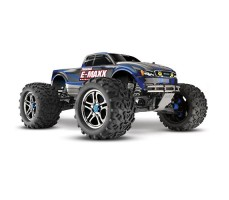 RC машина Traxxas E-Maxx 1/10 4WD Brushless Blue and Silver