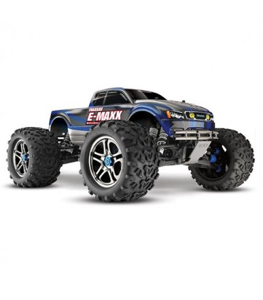 RC машина Traxxas E-Maxx 1/10 4WD Brushless Blue and Silver | Купить, цена, отзывы
