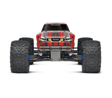 фото радиоуправляемой машины Traxxas E-Maxx 1/10 4WD Brushless Red and Silver спереди