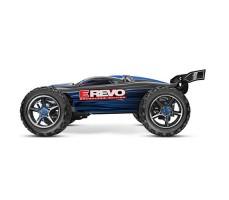 фото радиоуправляемой модели машины Traxxas E-Revo 1/10 4WD Brushless TSM Blue сбоку