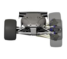 фото колесной базы радиоуправляемой модели машины Traxxas E-Revo 1/10 4WD Brushed