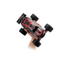фото радиоуправляемой модели машины Traxxas E-Revo 1/16 4WD VXL TSM Plus Red в руке
