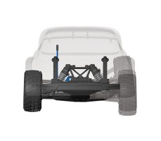 фото подвески RC машины Traxxas Rally Ford Fiesta ST 1/10 4WD NOS 38 Deegan