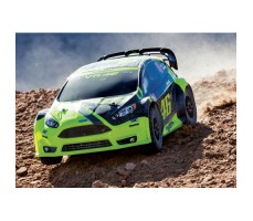 фото RC машины Traxxas Rally Ford Fiesta ST 1/10 4WD Yellow на улице