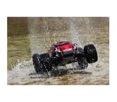 фото RC машины Traxxas Rustler VXL 1/10 2WD TSM Red в движении