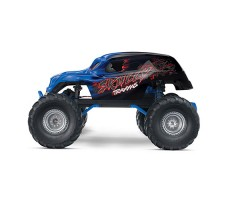 фото RC машины Traxxas Skully 1/10 2WD Blue сбоку