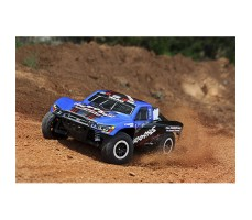 фото RC машины Traxxas Slash 1/10 2WD VXL TSM Blue в движении