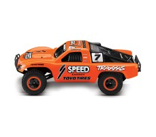 фото RC машины Traxxas Slash 1/10 2WD VXL TSM Orange сбоку