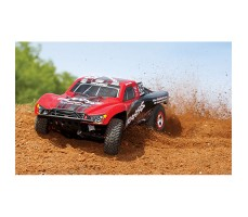фото RC машины Traxxas Slash 1/10 2WD VXL TSM Red в движении