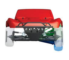 фото подвески RC машины Traxxas Slash 1/10 4WD VXL TSM OBA