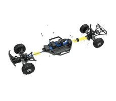 фото соединения деталей RC машины Traxxas Slash 1/10 4WD VXL TSM OBA Black