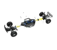 фото соединения деталей RC машины Traxxas Slash 1/10 4WD VXL TSM OBA Black