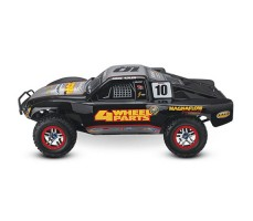 фото RC машины Traxxas Slash Ultimate 1/10 4WD VXL TQi Silver сбоку