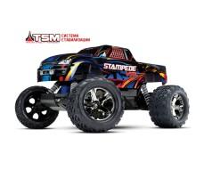фото радиоуправляемой машины Traxxas Stampede VXL 1/10 2WD TSM Black/Blue