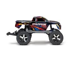 фото радиоуправляемой машины Traxxas Stampede VXL 1/10 2WD TSM Black/Blue сбоку