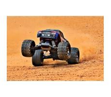 фото радиоуправляемой машины Traxxas Stampede VXL 1/10 2WD TSM Black/Blue в движении