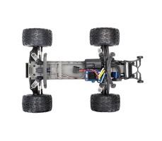 фото соединения деталей радиоуправляемой машины Traxxas Stampede VXL 1/10 2WD TSM Black/Blue снизу