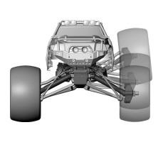 фото подвески радиоуправляемой машины  Traxxas Summit 1/10 4WD