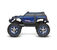 фото радиоуправляемой машины Traxxas Summit 1/16 4WD VXL TSM Plus Blue сбоку
