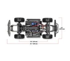 Радиоуправляемая машина TRAXXAS TRX-4 Land Rover Defender 1/10 4WD Adventure Edition