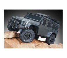 Радиоуправляемая машина TRAXXAS TRX-4 Land Rover Defender 1/10 4WD Scale and Trail Crawler Gray