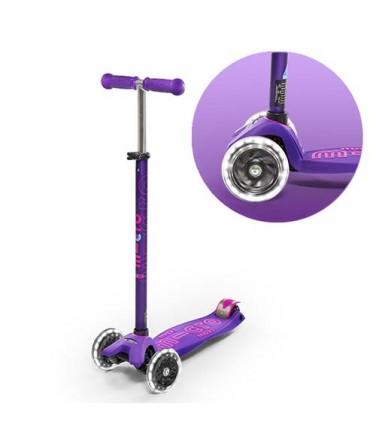 Детский самокат MAXI MICRO DELUXE LED Purple | Купить, цена, отзывы