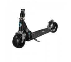 фото переднего колеса и доски самоката Micro Rocket Black
