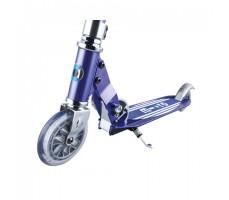 фото переднего колеса и доски самоката Micro Sprite Blue Stripes