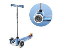 фото вид спереди и переднее колесо Детский самокат MINI MICRO Classic LED Aqua