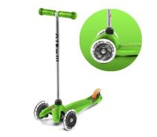 фото вид спереди и переднее колесо Детский самокат MINI MICRO Classic LED Green