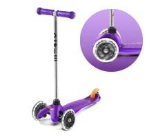 фото вид спереди и переднее колесо Детский самокат MINI MICRO Classic LED Purple